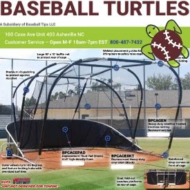 baseball turtles hitting practice cages portable